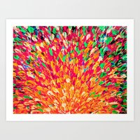 NEON SPLASH - WOW Intens… Art Print
