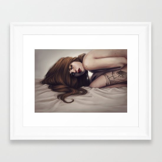 Death unfold me Framed Art Print