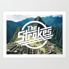 The Strokes Logo Machu Picchu Art Print