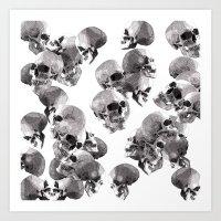 Art Print featuring Skulls by Rik Reimert