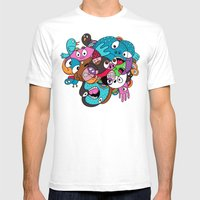Scribble Stuff Mens Fitted Tee White SMALL