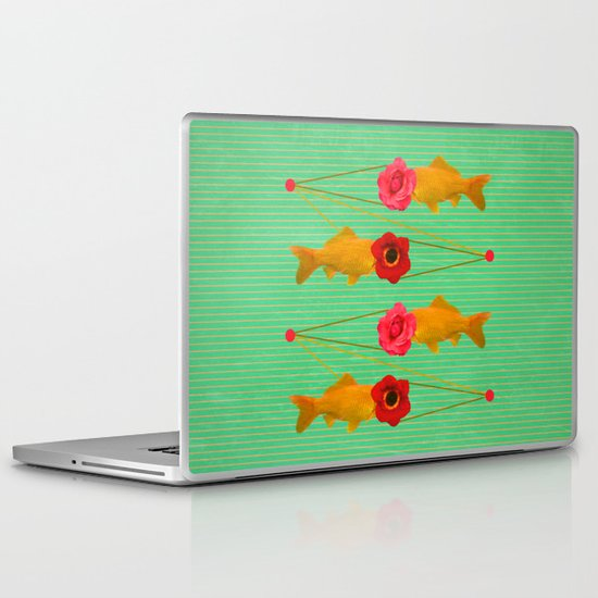 fishes and flowers Laptop & iPad Skin