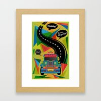 The Philippine Jeepney Framed Art Print