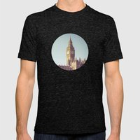 Dreaming Big Ben Mens Fitted Tee Tri-Black SMALL