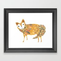 Mr Fancy Fox Framed Art Print