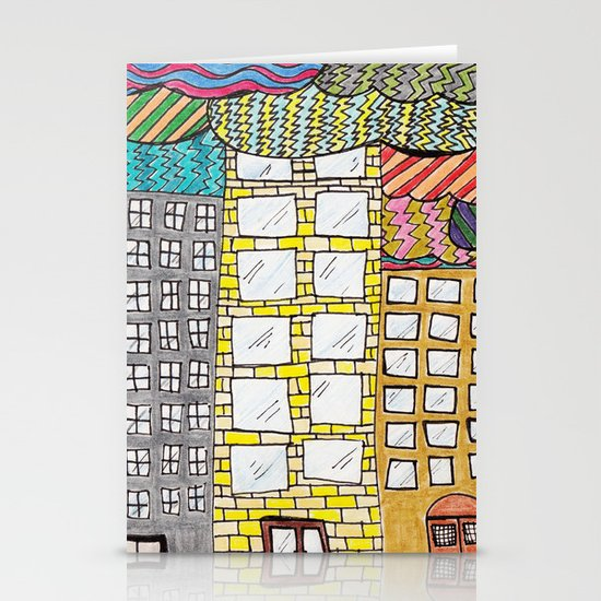 chicago skyline Stationery Card