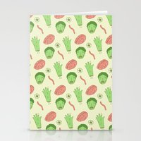 zombie Stationery Cards featuring Zombie by Paula García