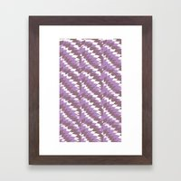 Purple Pattern Print Framed Art Print