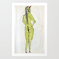 sexy ladies 6 Art Print