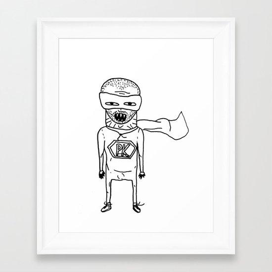 Superhero PK. Framed Art Print