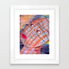 Plaid Head2 Framed Art Print