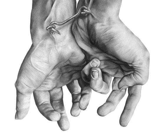 Locked Hands Art Print