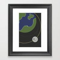 Moon. Framed Art Print