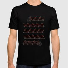 Stretched Out Tandem MEDIUM Mens Fitted Tee Black