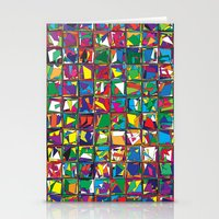 Stacks Geometric Art Print. Stationery Cards