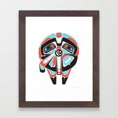 Great Sun Bear - Alliance Is Rebellion  - Millennium Falcon, wars, star Framed Art Print