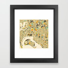 San Diego Map Framed Art Print