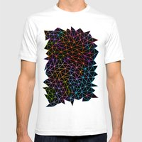 Geometric Glow Mens Fitted Tee White SMALL