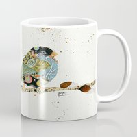 Cafe Swirly Bird 4 Mug