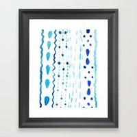 Dot Dash Dot Framed Art Print