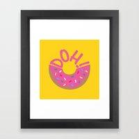 Doh! Framed Art Print