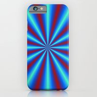 Red And Blue Pleats iPhone 6 Slim Case