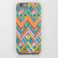 iPhone & iPod Case featuring Chevron Neon by Joan McLemore