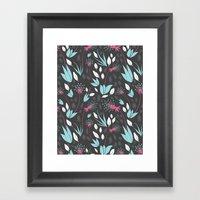 Nighttime Dandelions Framed Art Print
