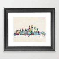 Louisville Kentucky Skyl… Framed Art Print