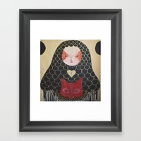 In The Thicket Hides A F… Framed Art Print
