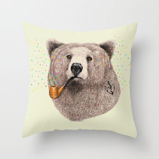 Sailor Bear Throw Pillow