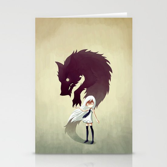 Werewolf Stationery Card