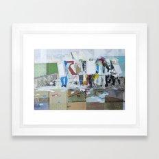 Under Fire Framed Art Print