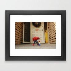 Red Hulk Come Home Framed Art Print