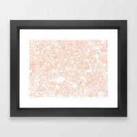 These Lines [We Draw] Framed Art Print