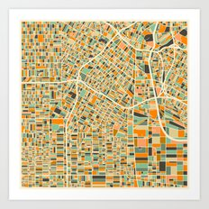 Los Angeles Map Art Print