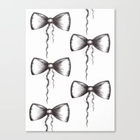 Bow Pattern Canvas Print