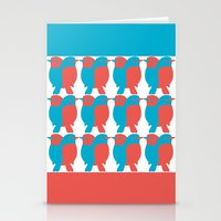 BLUE/RED BIRDS  Stationery Cards