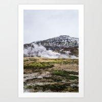 Icelandic Steam Art Print