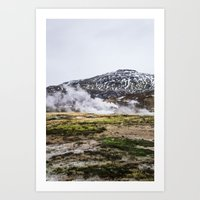 Icelandic Steam Art Print