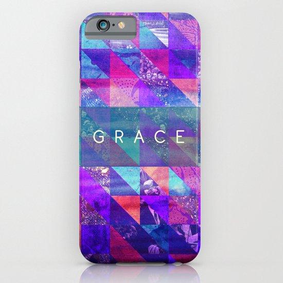 "2 Corinthians 12:9 ""Grace"" (purple triangles) iPhone & iPod Case"