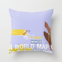 A World Map of Foreign Policy (book jacket cover) Throw Pillow