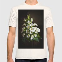 White Lilies Mens Fitted Tee Natural SMALL