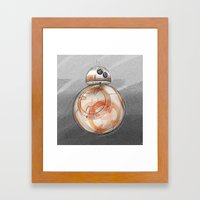 BB8 - on the move Framed Art Print