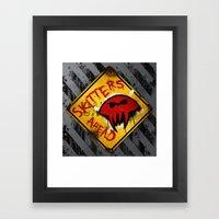 Caution: Skitters Ahead … Framed Art Print