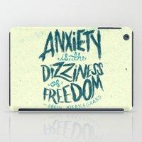 Kierkegaard On Anxiety iPad Case