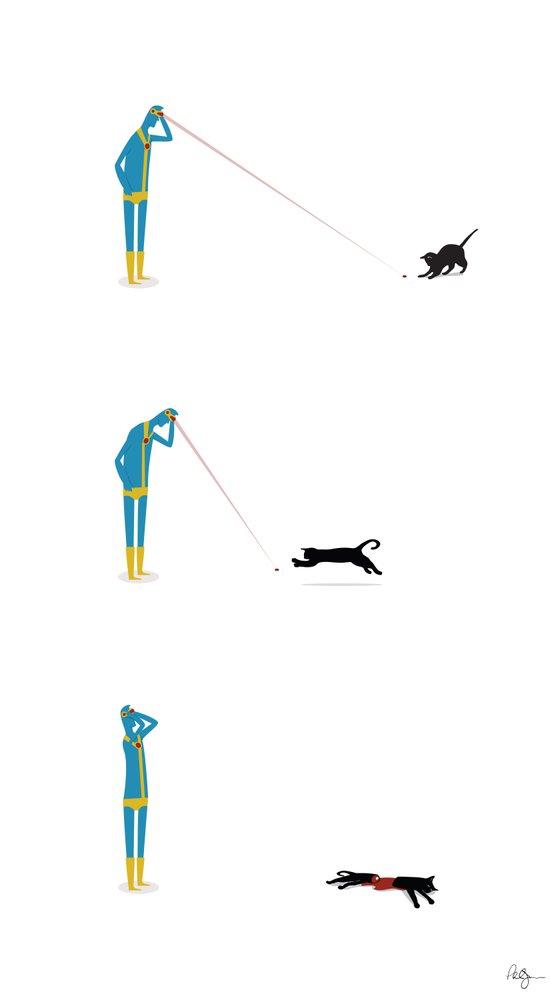 Cyclops' Cat Art Print