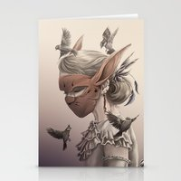 hare and sparrow Full colour  Stationery Cards