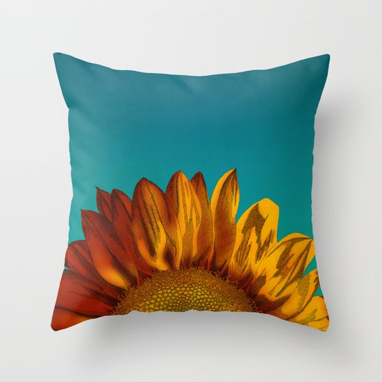 Decorative Pillows With Sunflowers : A Sunflower Throw Pillow by Megs Stuff... Society6