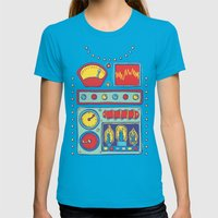 Retrobot Womens Fitted Tee Teal SMALL